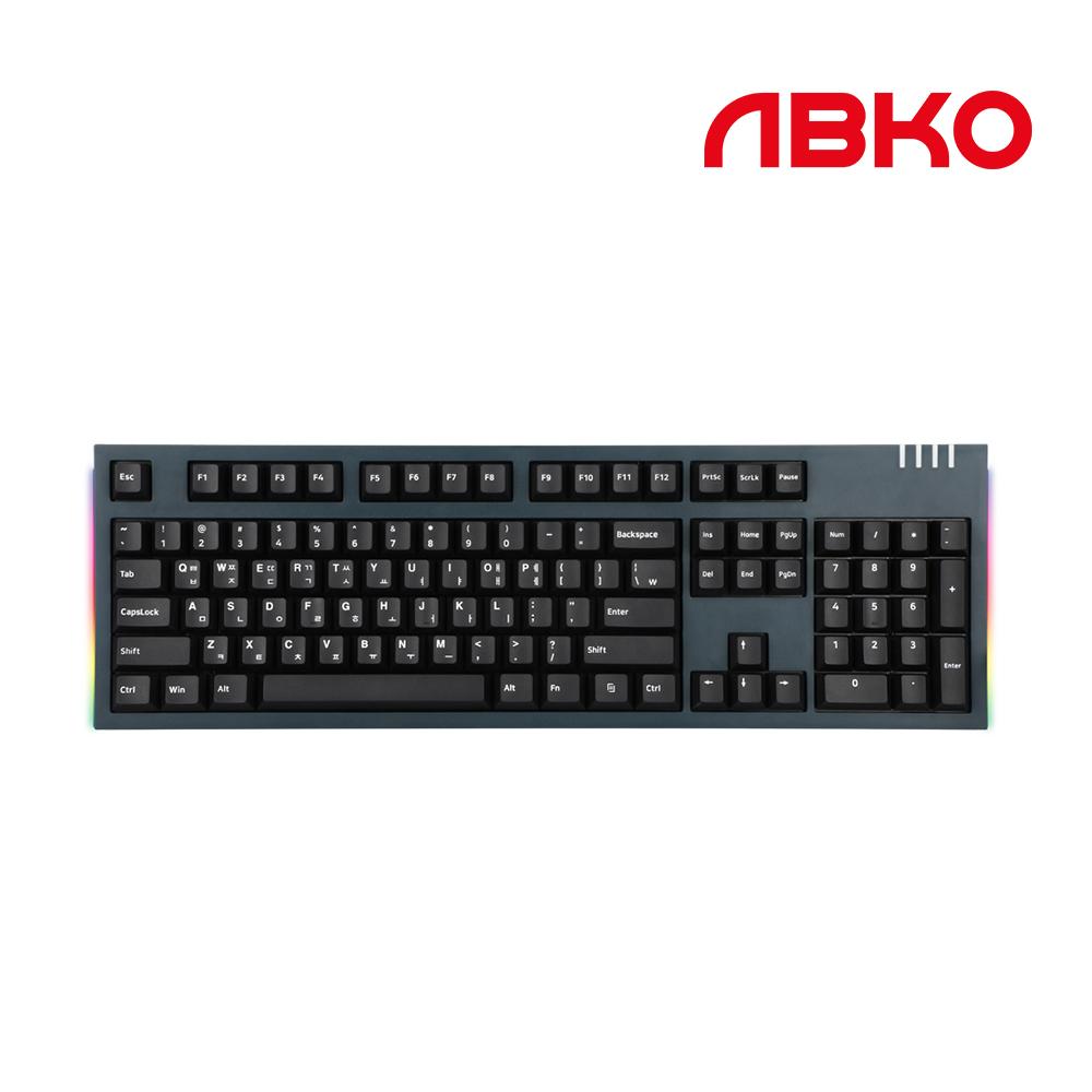 앱코 K660M 이색사출 PBT 체리 유선키보드, 미드나잇그린, 청축