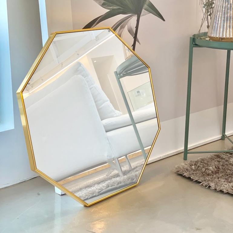 [브래그디자인] 600x600 팔각 거울, 1. 골드