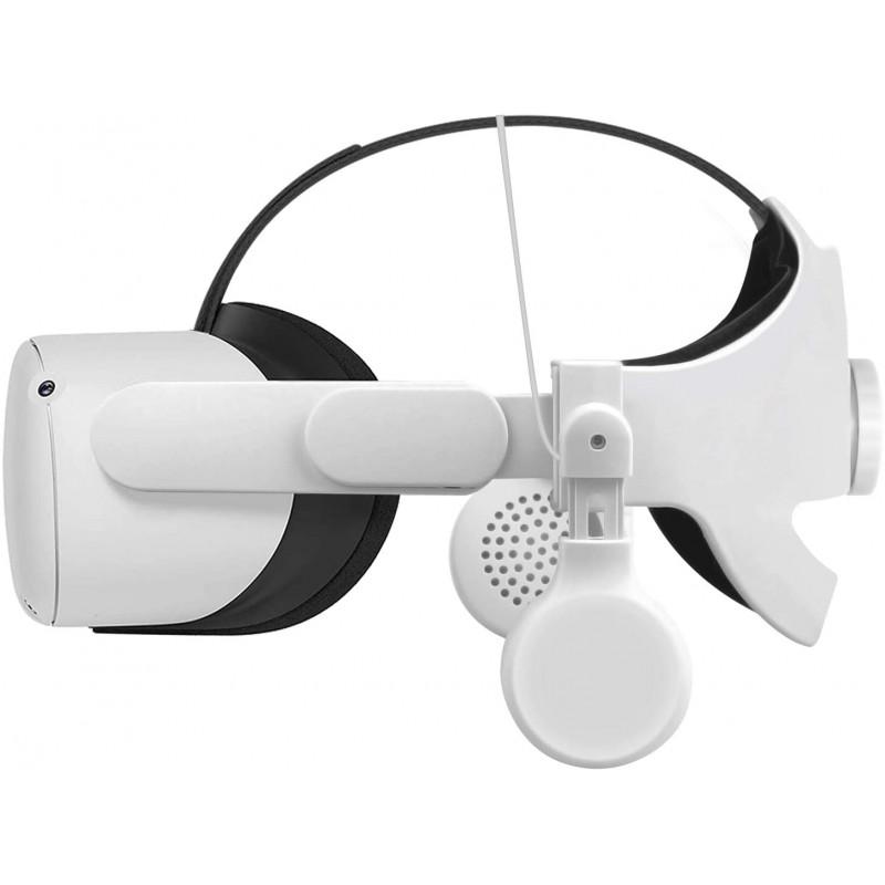 오큘러스 퀘스트 2 엘리트 스트랩 온이어 이어버드 헤드폰(Q2 조정 가능 헤드 스트랩 -2PCS)용 에시멘 게, 1, 단일상품