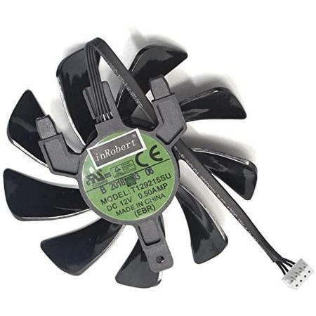 inRobert 85mm T129125SU 비디오 카드 쿨링펜 for Sapphire Radeon RX 570 펄스 ITX 그래픽 카드 쿨러 PRO, 상세 설명 참조0