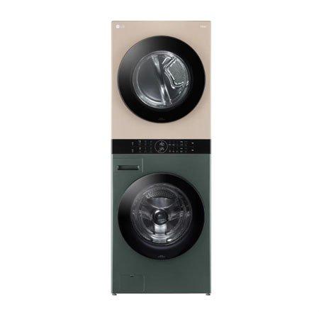 LG 워시타워 오브제컬렉션 W16GR.AKOR [세탁기24KG + 건조기16KG 원바디 플랫 디자인 원바디 런드리 컨트롤 건조 준비기능 드럼-네이처 그린 건조기-네이처 클레이 브라, W16GR