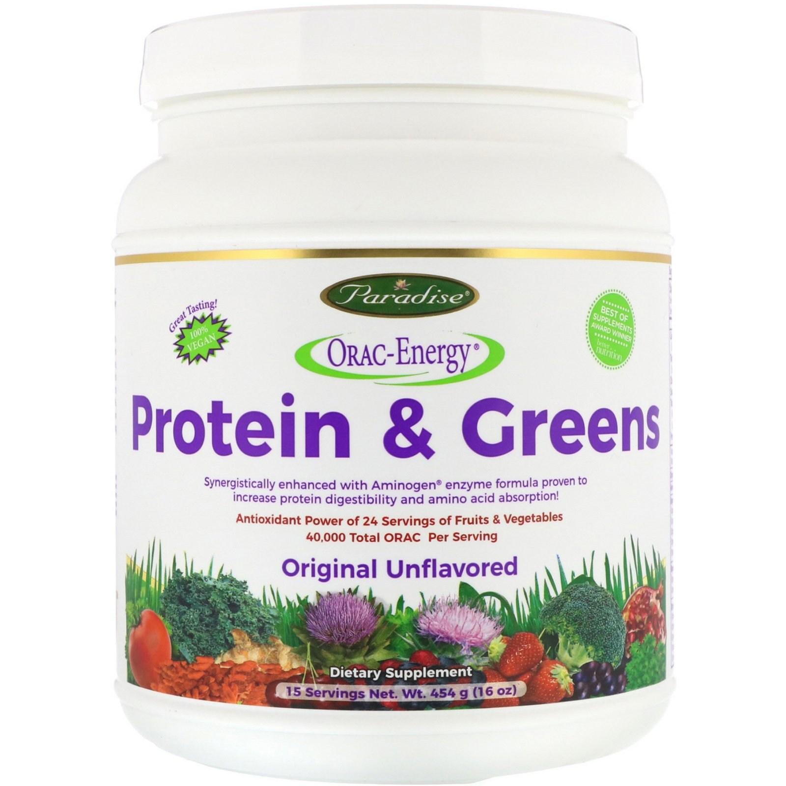 파라다이스허브 ORAC-에너지 프로틴& 식물성 오리지날 454g 단백질, 1개, -