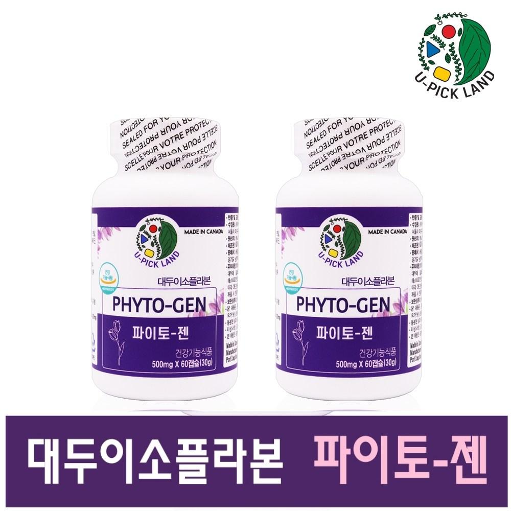여성 갱년기 영양제 파이토젠 대두 이소플라본 식물성 에스트로겐 40대 50대 여자 호르몬 보충제 PHYTOGEN 효능 추천 캐나다 직수입 식약처, 2개, 60캡슐