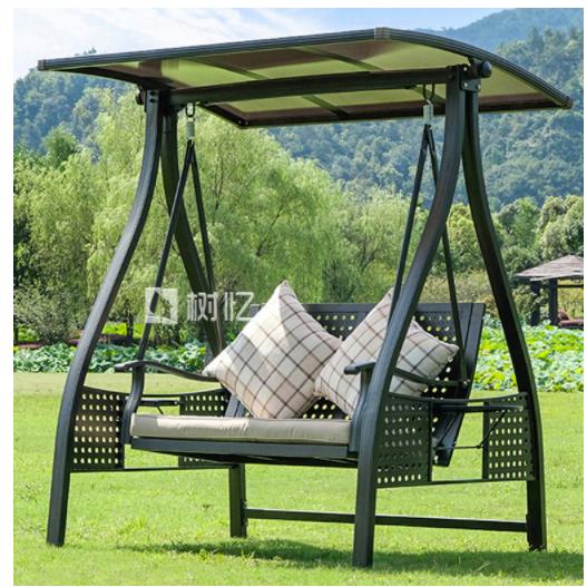 야외 흔들 그네 정원 그네안뜰 스윙 정원 홈 발코니 그물 레드 스윙 의자 교수형 7, 아이스 커피 더블 스윙 커피색