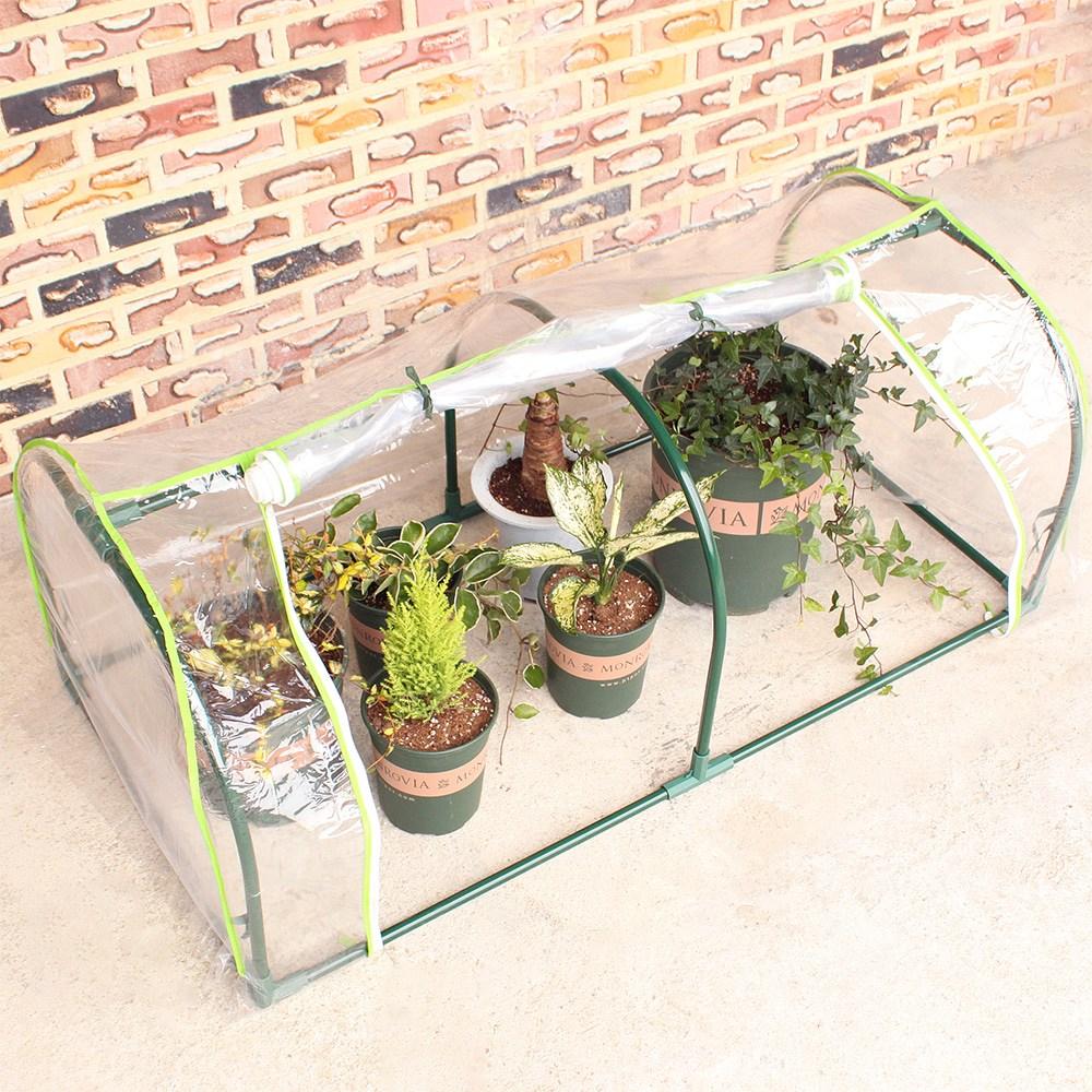 베란다용 비닐하우스 베란다온실 옥상 조립식 가정용 텃밭 이동식 다육이 미니 비닐하우스