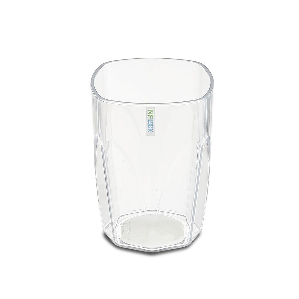 엔에프락 트라이탄컵 안깨지는 투명 물컵 10개, 투명/사각
