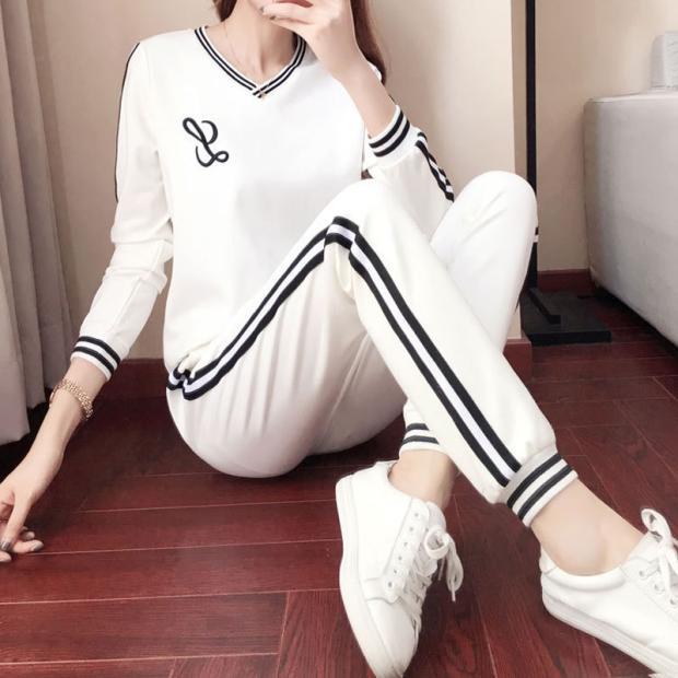 해외출고상품 트레이닝복 캐주얼 상하세트 운동복가을겨울 캐주얼 스포츠 여성 브랜드 패션-40528