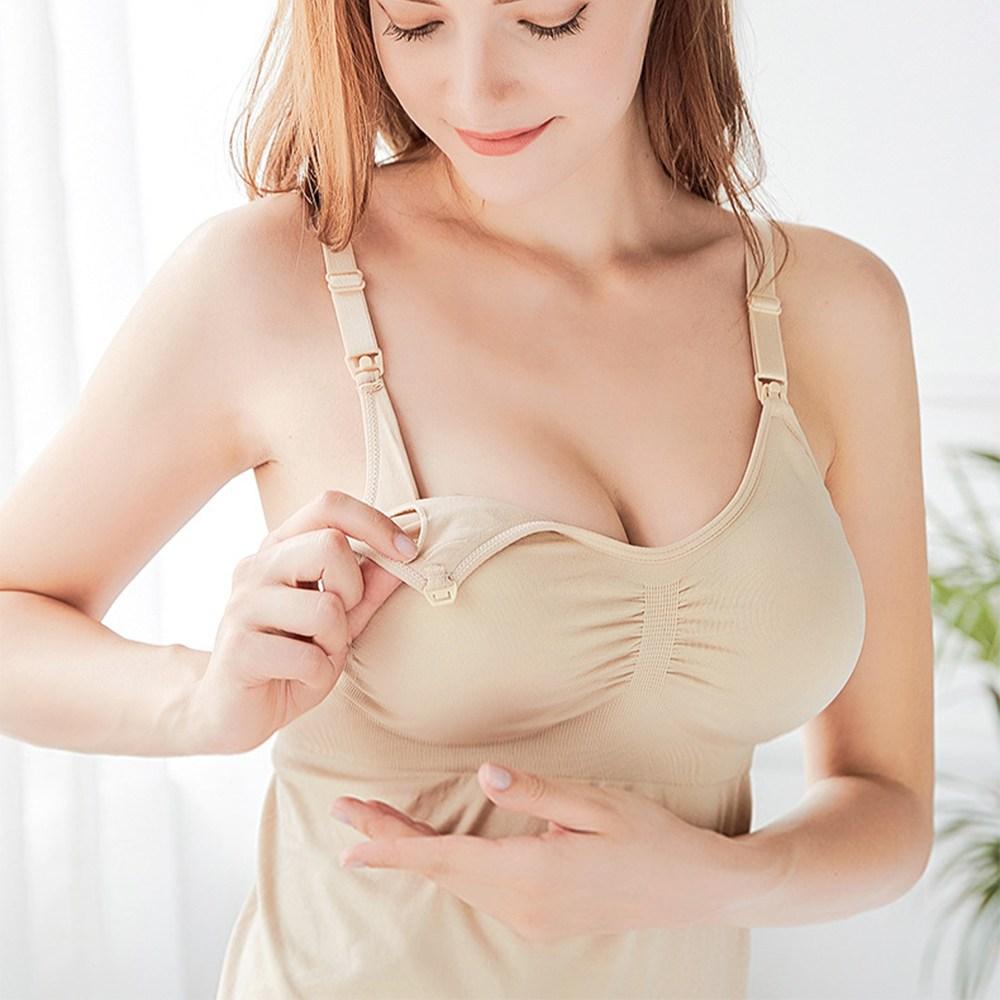 원터치 노와이어 심리스 수유나시 임산부속옷 수유복