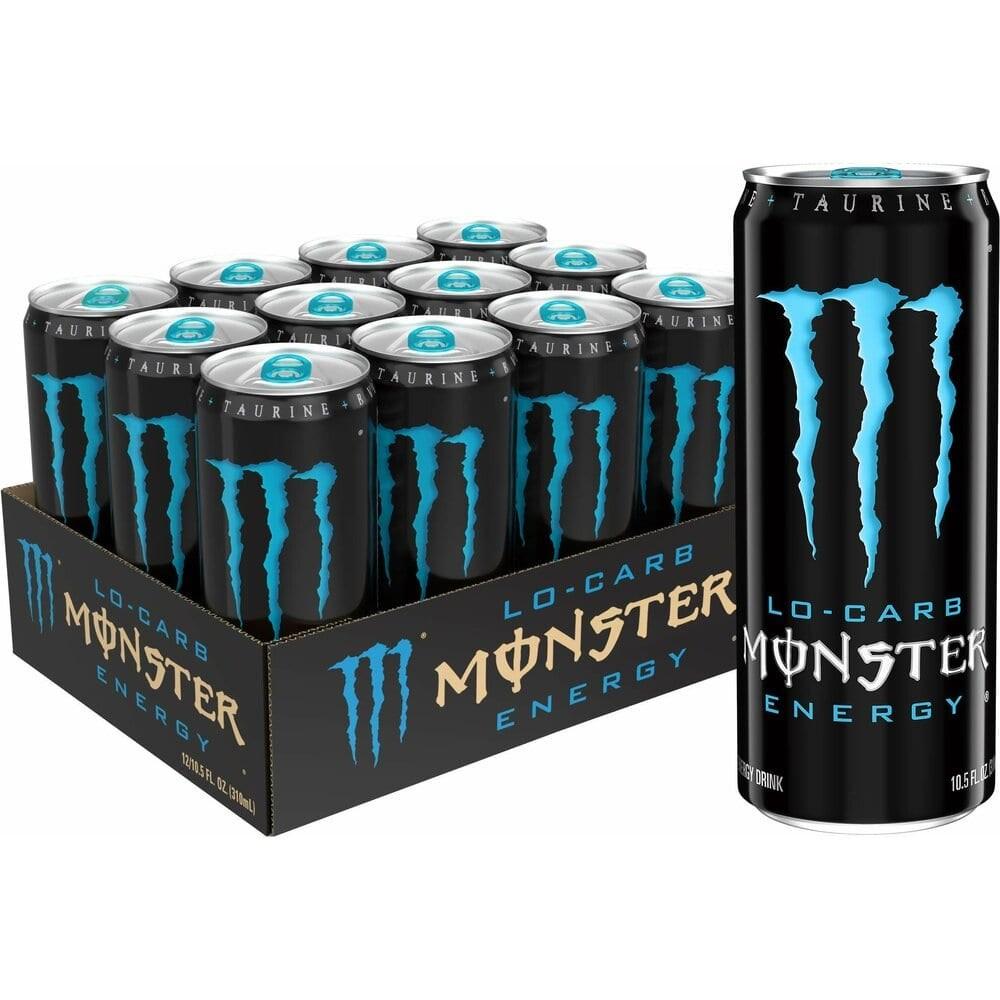 Monster 몬스터 저칼로리 LO-CARB 에너지 드링크 310ml (12개), 12Ea