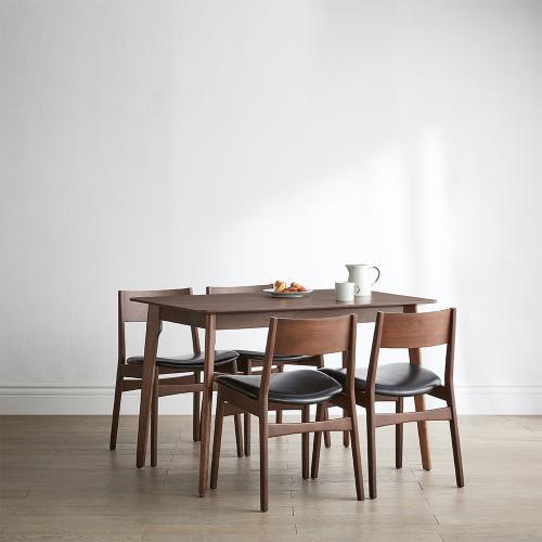 [까사미아] E레트로)4인식탁세트(체어4EA), 단일상품