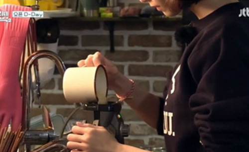 [카라멜샵] 카페법랑머그(2color)효리네 민박 머그컵, 블루