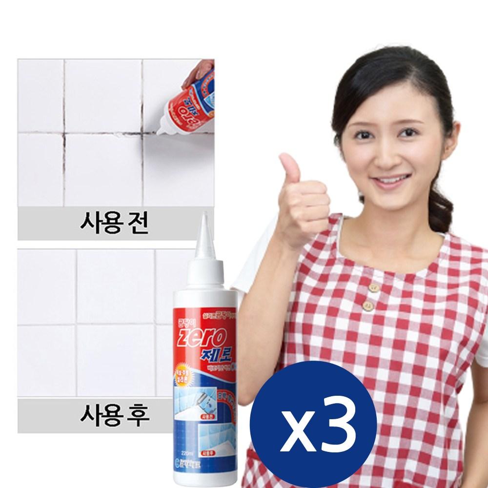금영테크 실리콘 젤 곰팡이제거제, 220ml, 3개