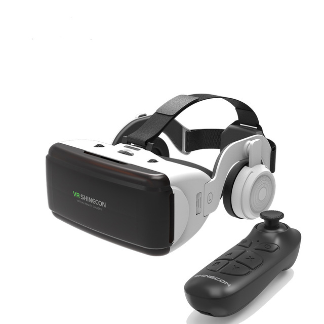 VR SHINECON 홈카페 원래 프로 가상 현실체험 3D 안경 헤드셋, 세트03( BO3 조이스틱 포함)