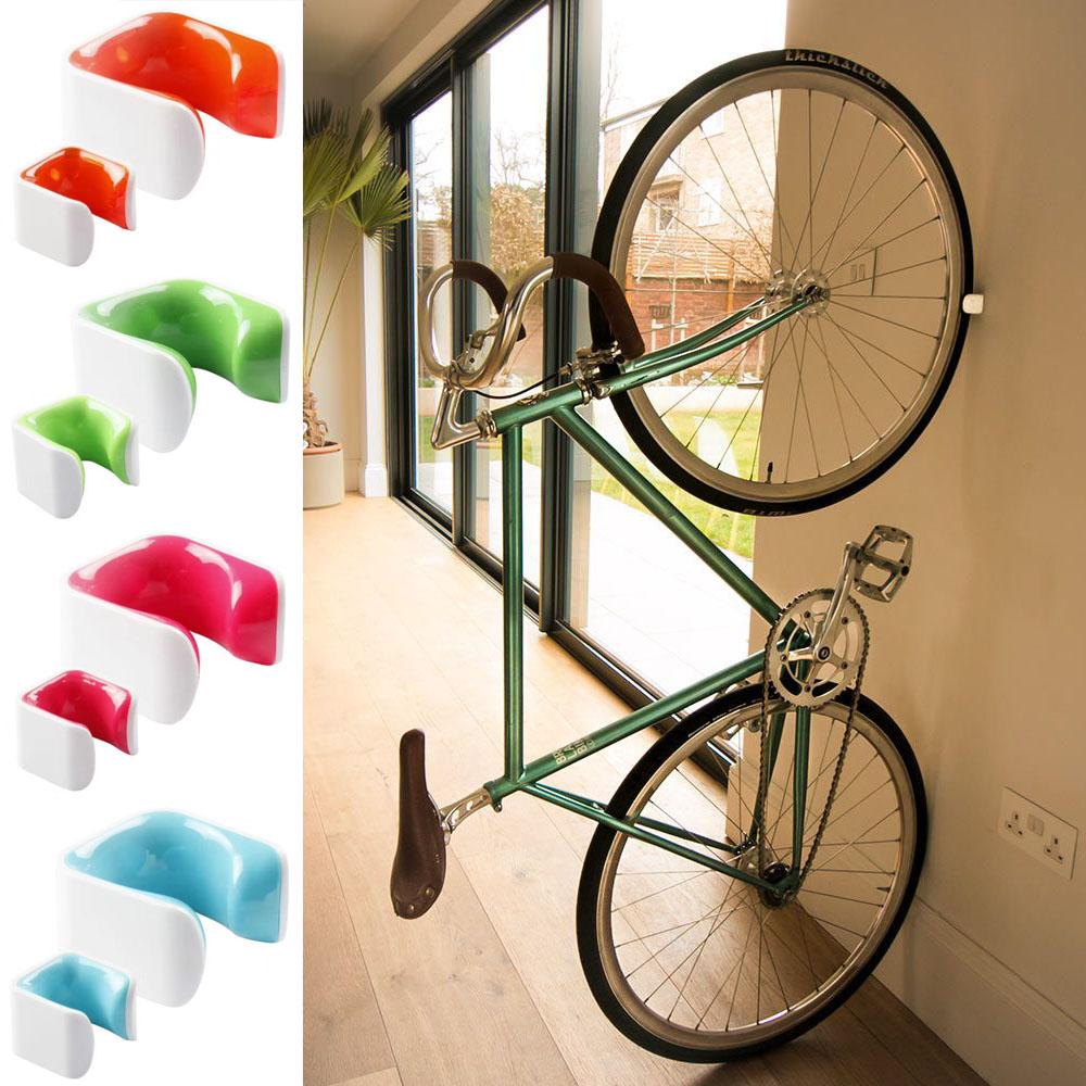 자전거 실내 수직 보관 벽걸이 거치대, 벽걸이하이브리드 오렌지