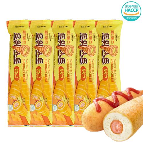 [핫도그의 특별한맛] 회오리 체다치즈 핫도그 130gx5EA, 단품