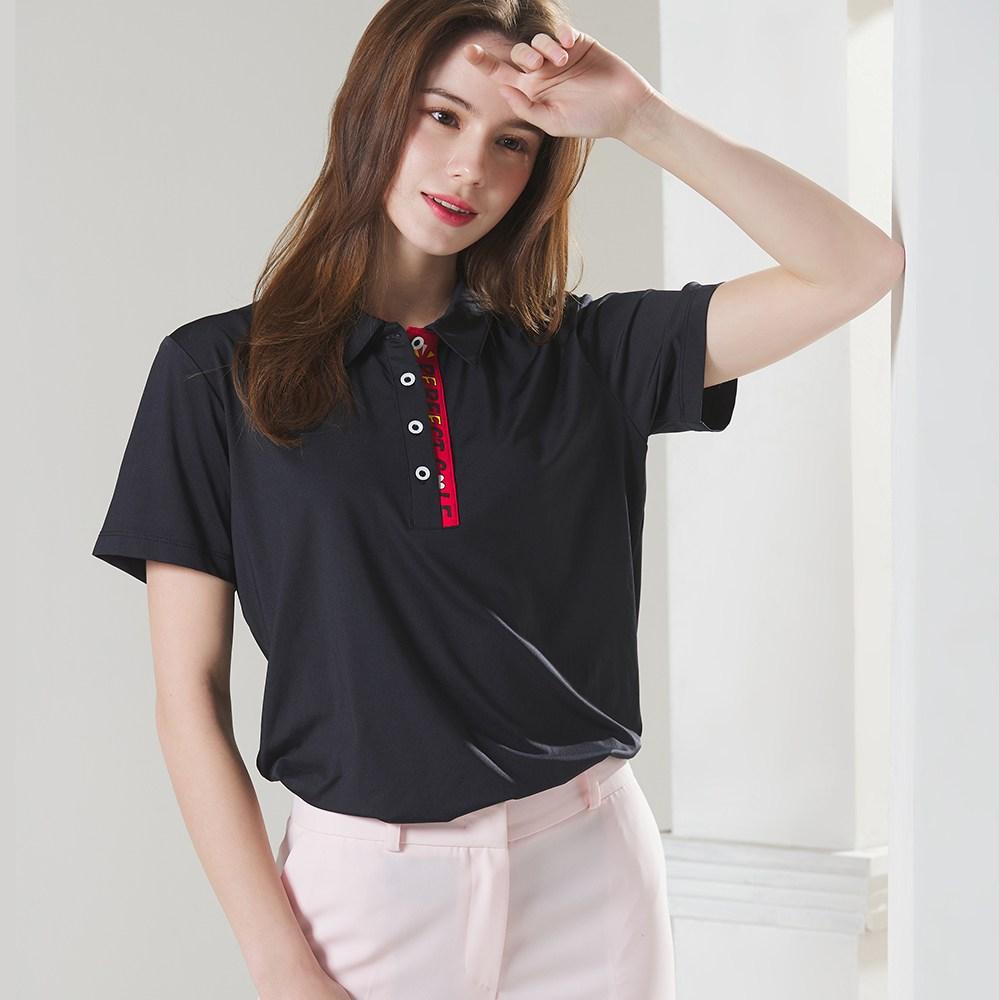 김영주골프 VAZO 여성골프웨어 GIO4 반팔티셔츠 골프복