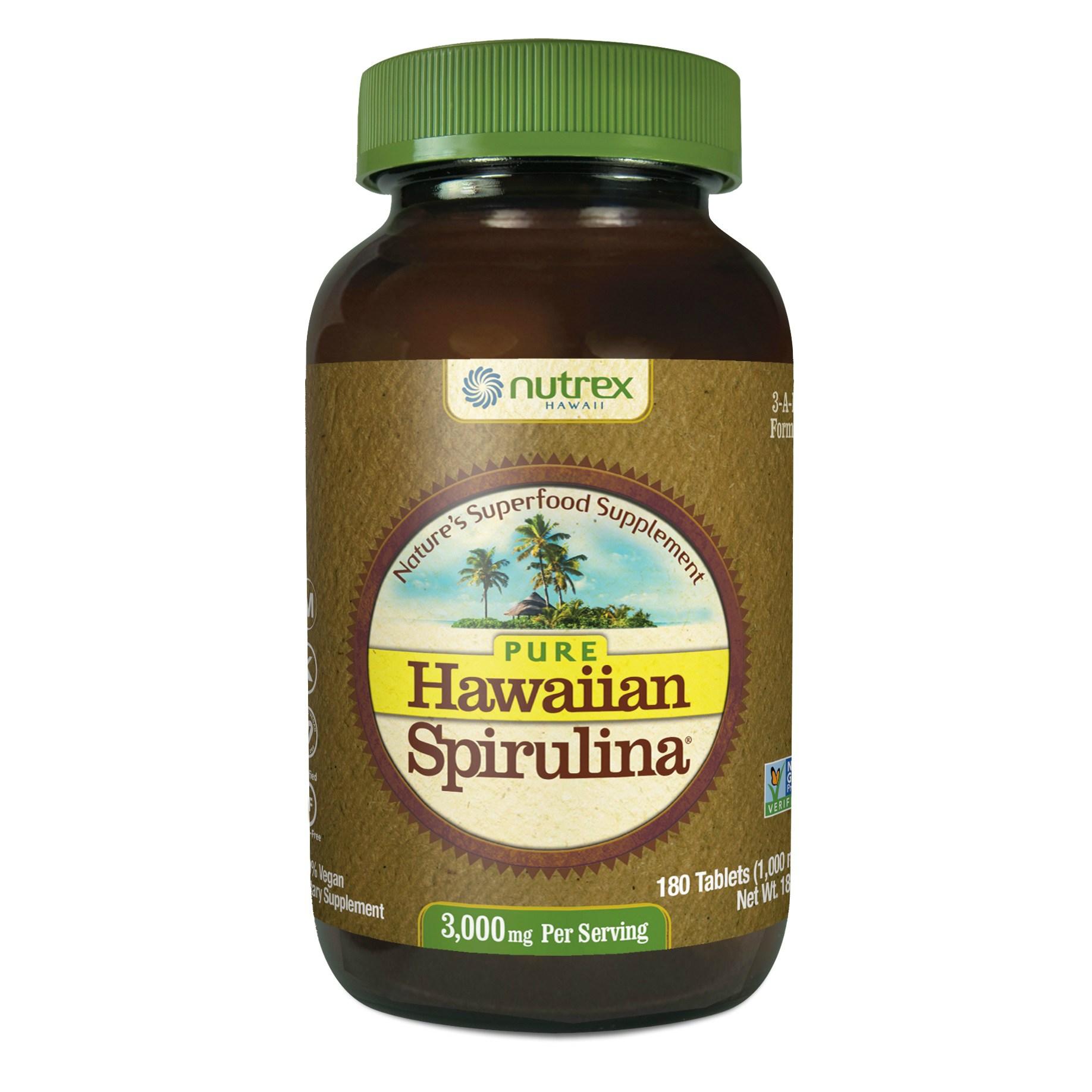 뉴트렉스하와이 퓨어 하와이안 스피룰리나 퍼시피카 3000mg 타블렛, 180개입, 1개