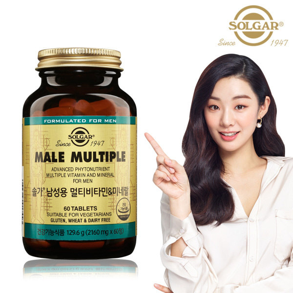 [솔가] 남성용 멀티비타민 미네랄 (60정/2개월), 상세 설명 참조