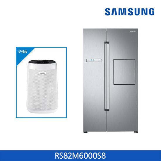 삼성 지펠 냉장고 유러피안 양문형 815L RS82M6000S8 + 삼성 공기청정기 패키지, 단품