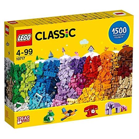 레고 Classic 10717 Bricks Bricks Bricks 1500 Piece Set - Encourages Creativity in all Ages - Ideal, One Color