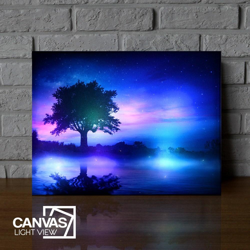 캔버스라이트뷰 몽환의숲 LED 조명액자 LED액자