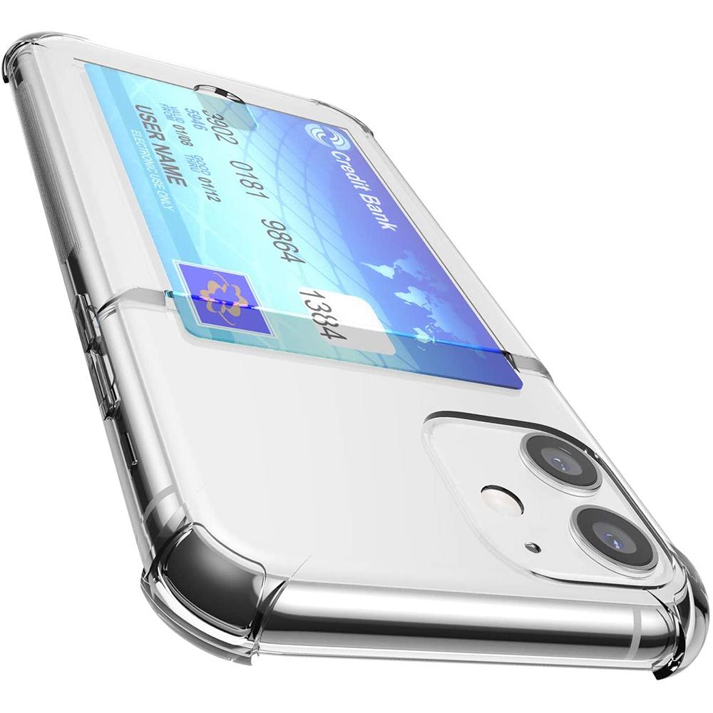 요거 아이폰 케이스 투명 카드 수납 범퍼 젤리 실리콘 휴대폰