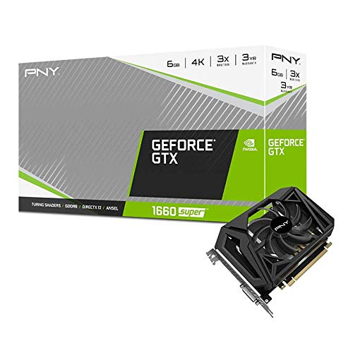 PNY VCG16606SSFPPB GeForce GTX 1660 Super 6GB GDDR6 (192-bit) Single Fan Graphics Card 그래픽카드