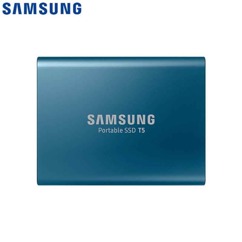 100 SAMUNG 외장 SSD USB3.1 T5 USB3.0 2TB 1TB 500GB 250GB 하드 드라이브 외장 솔리드 스테이트 드라이브 HDD 데스크탑 노트북 PC 디스코, 푸른 (POP 5734896515)
