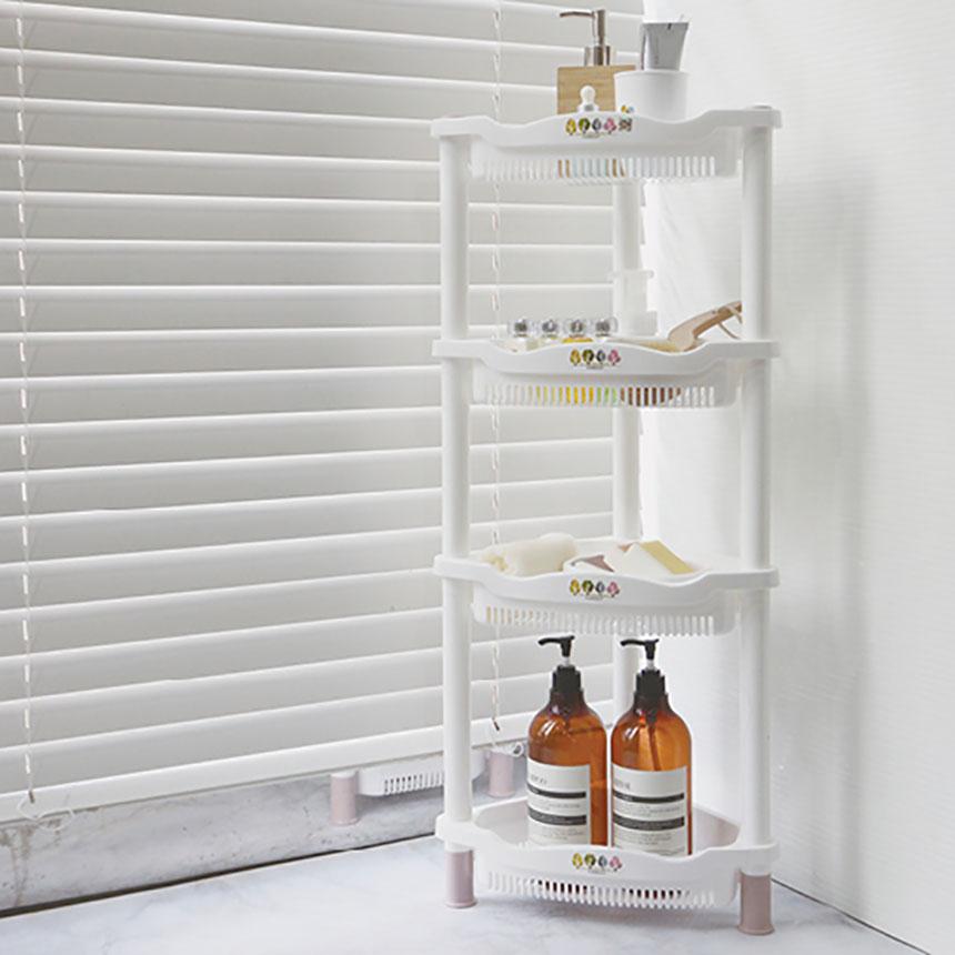 니드코 포레스트 코너선반 다용도 3단 4단 욕실선반, 4단(색상랜덤) (POP 1242335580)