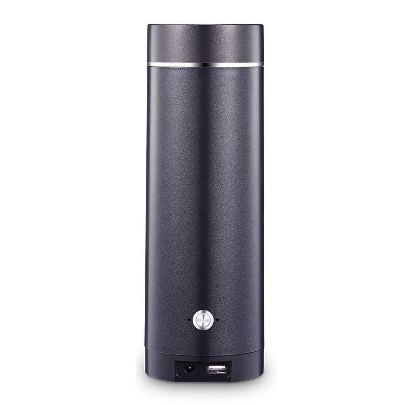 무선포트(USB/차량용)전열 물끓이는컵 여행 휴대용 무선 가열 물주전자 미니, T01-블랙