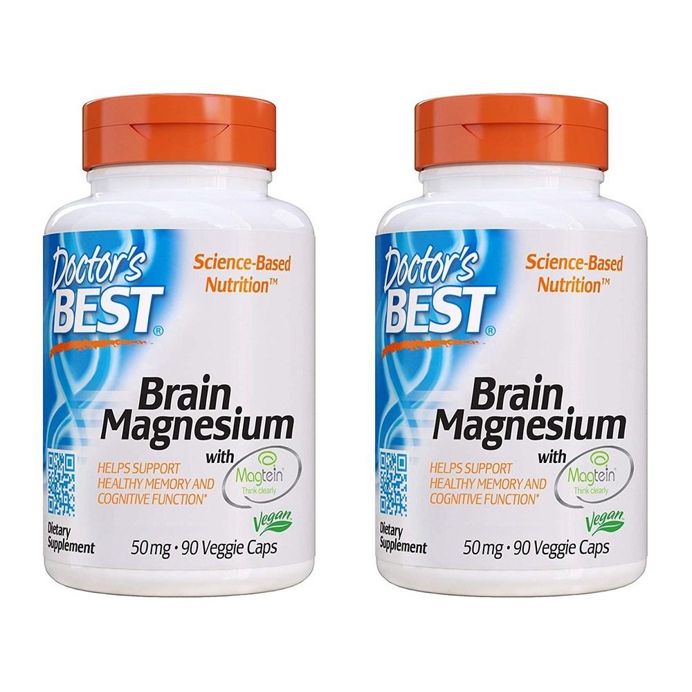 Doctors Best 브레인 마그네슘 50mg 베지 캡, 90개입, 2개