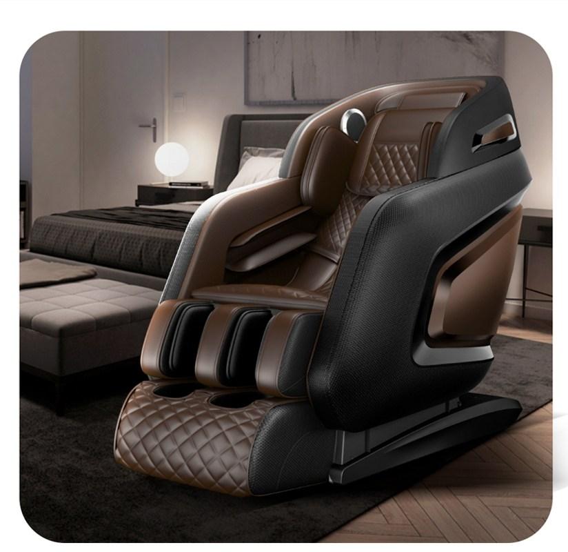 안마 의자 가정용 전신다기능 마사지 전자동 안마기 Chigo Chigo 공간 4D 홈, 【국가 특허】 럭셔리 블랙 브라운 (POP 5748169521)