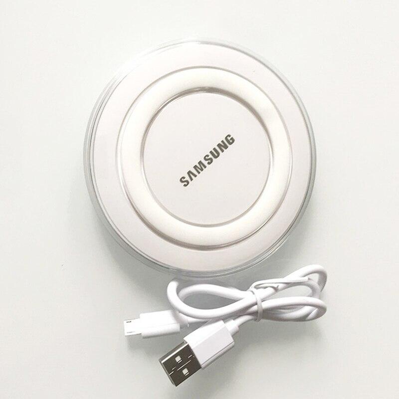5V 2A QI 무선 어댑터 충전기 패드 마이크로 USB 케이블 삼성 갤럭시 S7 S6 엣지 S8 S9 S10 플러스 아이폰 8 X XS MAX XR, WHITE (POP 5707216893)