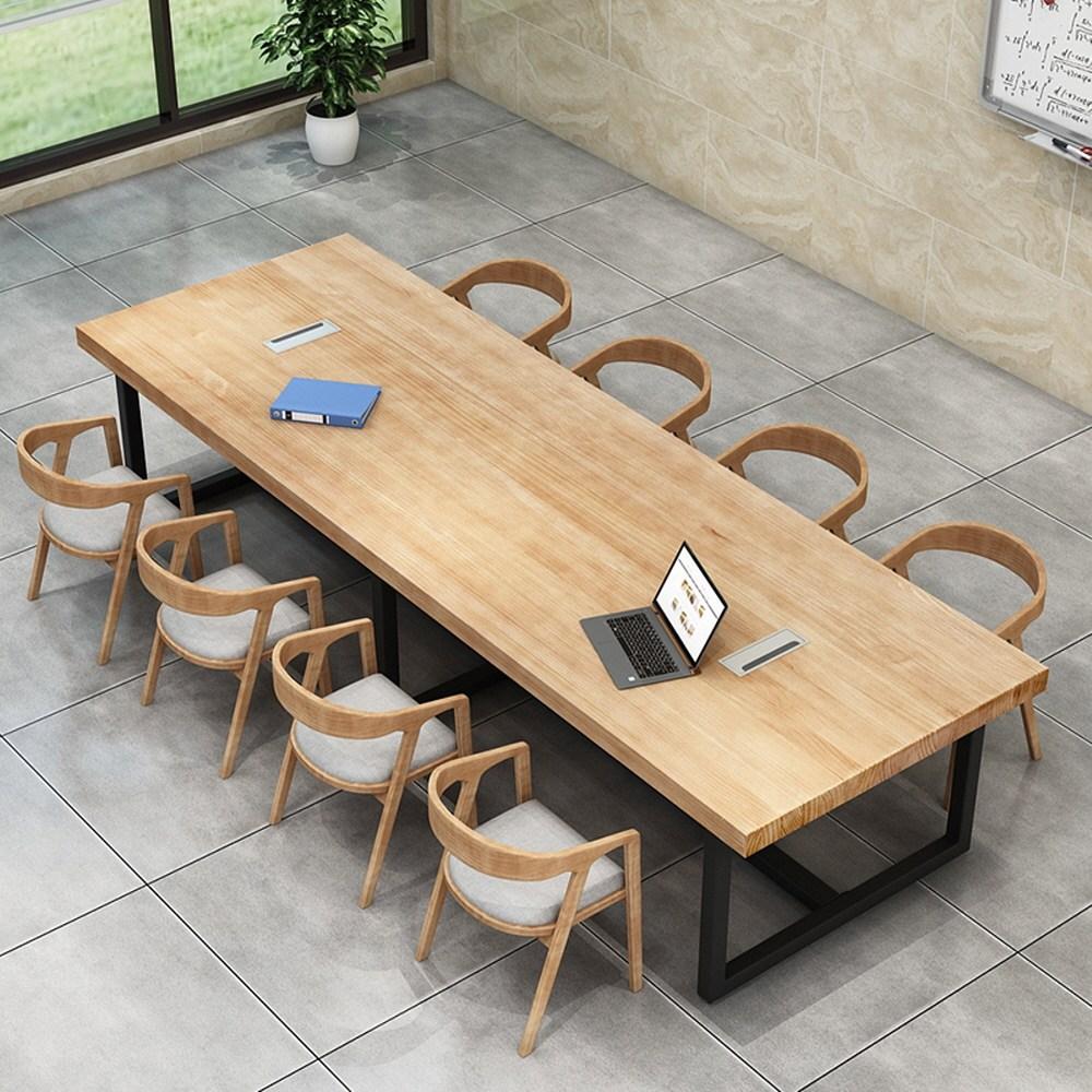 6인용 나무 원목 식탁 4인용 거실 확장형 회의용 세트, 옵션A