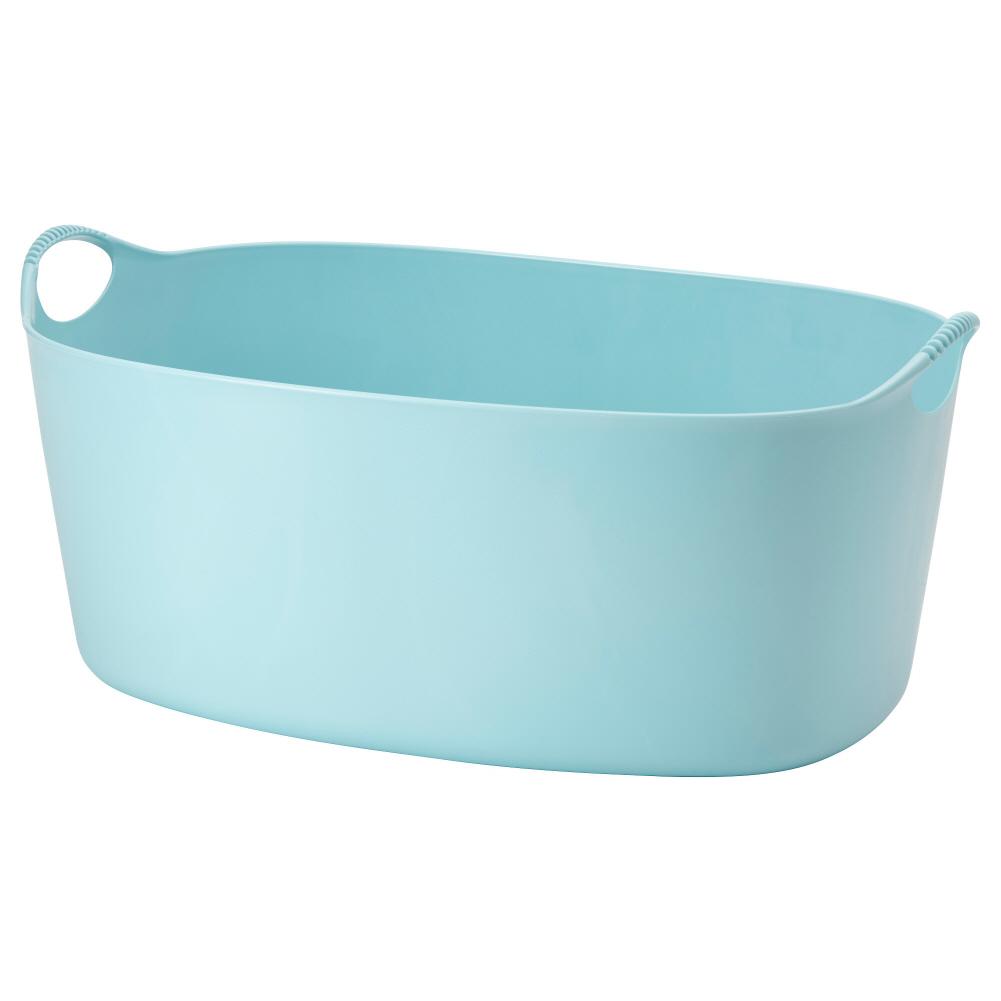 빨래바구니 실내외겸용 블루 토르키스 35 L