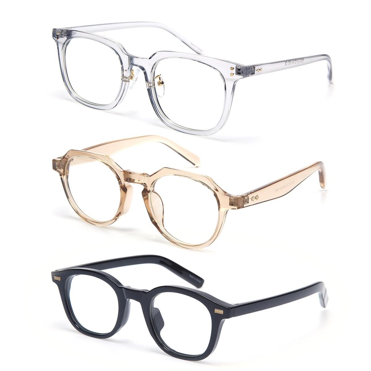 클라스타 무도수 블루스크린 청광차단 투명 안경테