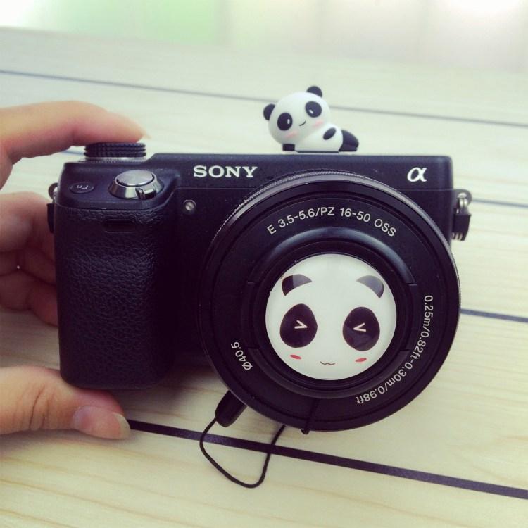 렌즈캡 a6000a6100a6300a6400미러리스카메라 카메라 16-50아이디어 애니메이션 렌즈 덮기 40.5mm, 단일상품