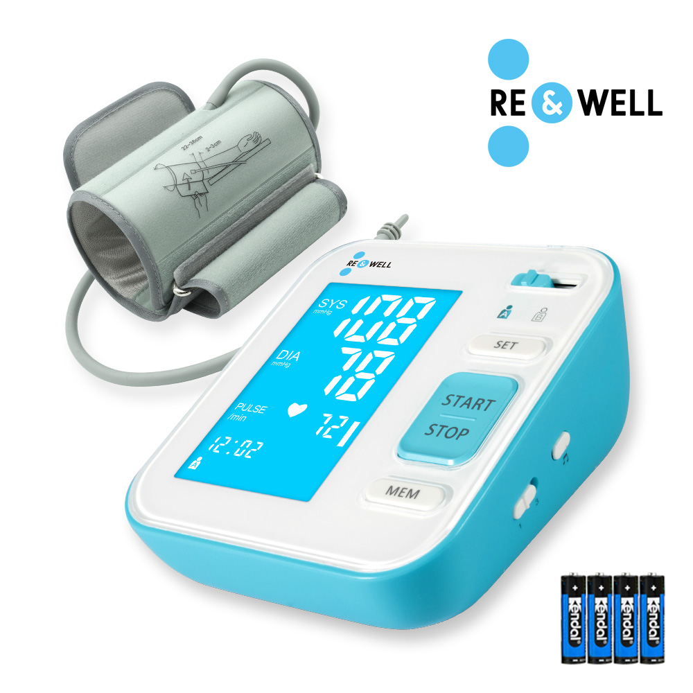 리앤웰 스마트자동전자 혈압계/ 가정용 / 음성지원/ 부정맥측정/ 240회 메모리기능/ 보관 케이스 / 의료기기허가품, 스마트 자동 혈압계