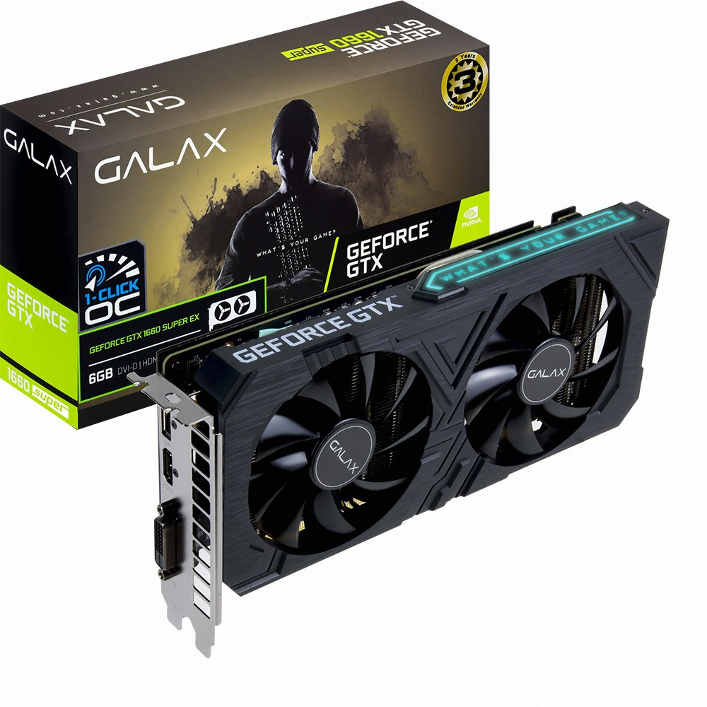 갤럭시 GALAX 지포스 GTX1660 SUPER EX BLACK OC D6 6GB