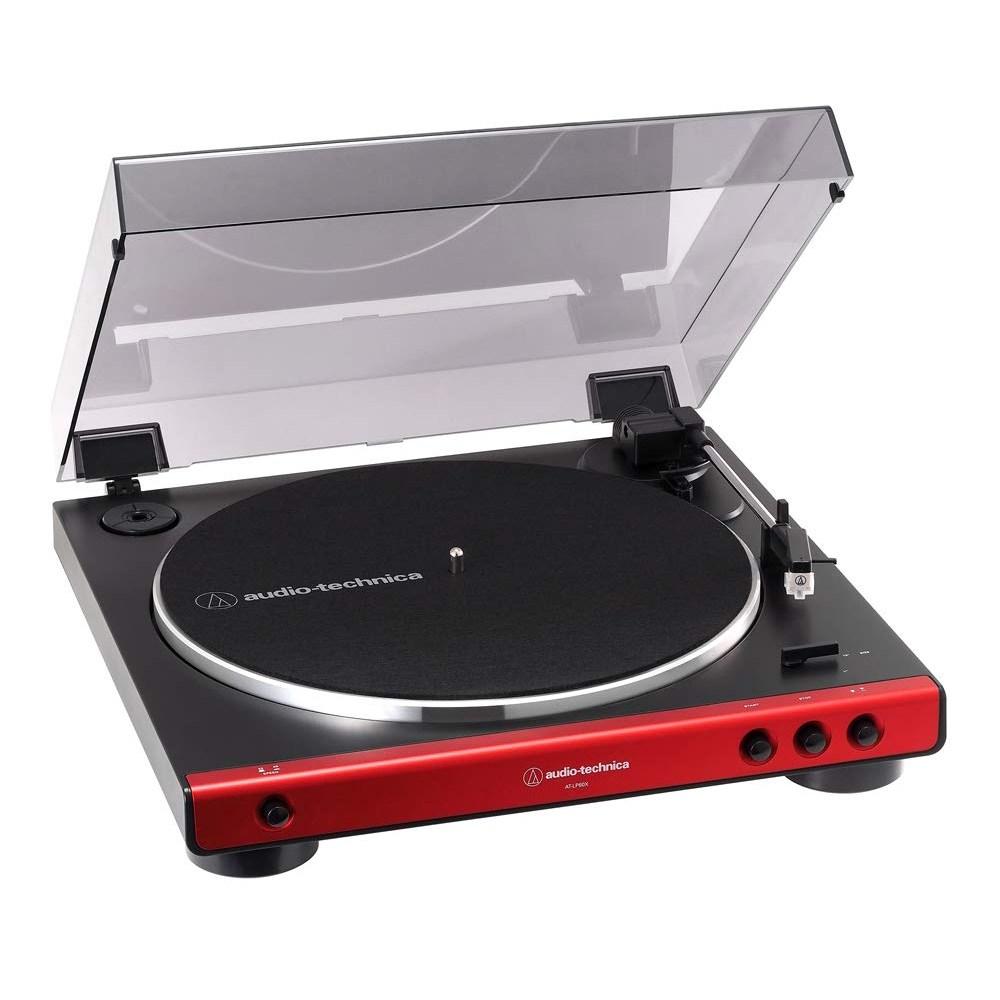 audio-technica 오디오 테크니카 풀 오토 턴테이블 레드 AT-LP60X-RD