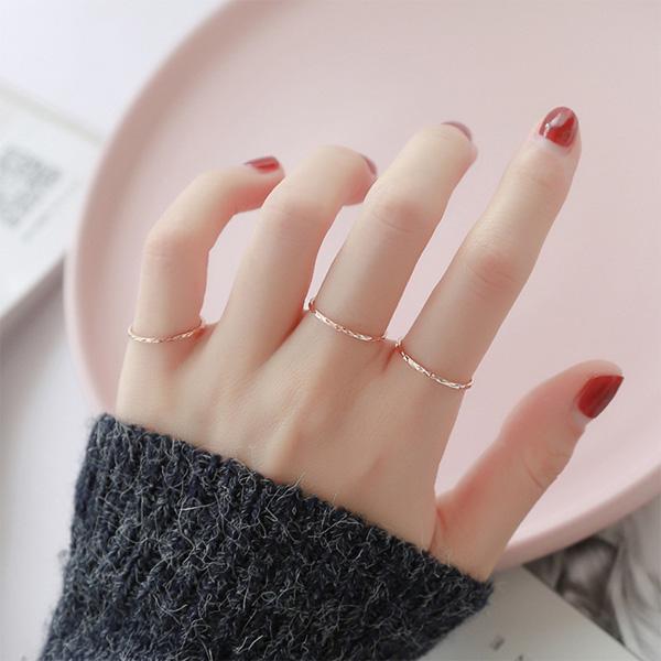 하나린 써지컬스틸 반지 챠밍 레이어드링 티타늄반지