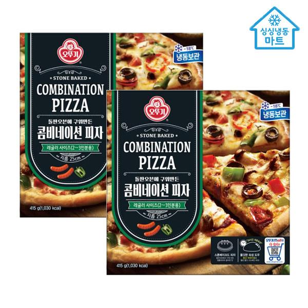[오뚜기] [냉동마트] 피자 콤비네이션 x 4판, 옵션선택:오뚜기피자 콤비네이션 x 4판
