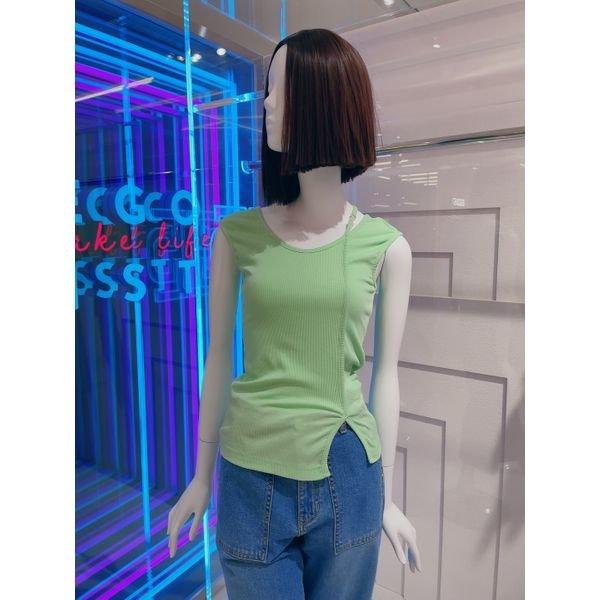 [갤러리아] 에고이스트[21여름]슬리브리스 절개 티셔츠[EM2CV661]