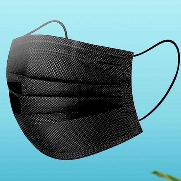 JMALL 대형 성인용 블랙 일회용마스크 100매 3중필터 여름마스크, 100개