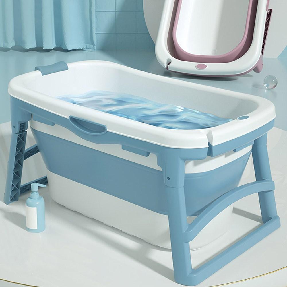 에이치앤아이 프리미엄 접이식욕조 반신욕조 이동식욕조, 1개, 프리미엄 중형 블루(PS-110BL)