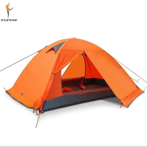 FLYTOP 캠핌용 알파인 백패킹 텐트 WIND2, 2, 오렌지