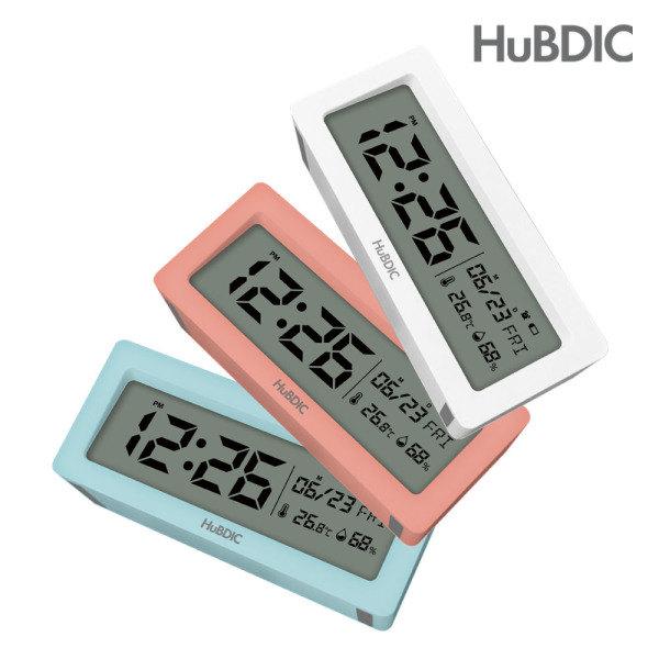 [휴비딕] 디지털 시계 온습도계 달력 HT-6 알람시계, 선택:1)HT-6 화이트