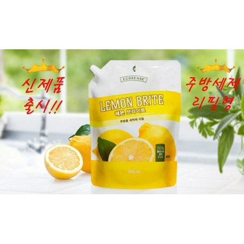 멜라루카 주방세제 레몬 브라이트 리필 946ml, 레몬향 리필형 946ml