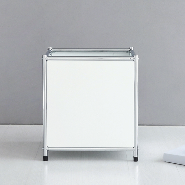 프리미엄 모듈가구 화이트 철제 거실장 TV 선반 시리즈, 1.SIMPLIE 수납박스 BC260