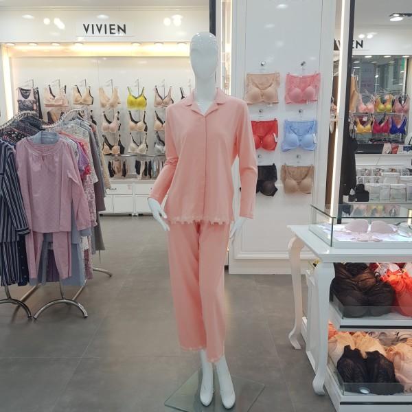 비비안 비비안 모달 레이스 포인트 여성잠옷세트 WP502